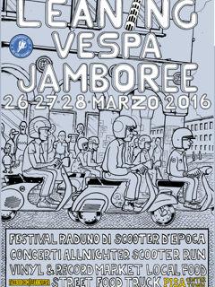 Leaning Vespa Jamboree 2016