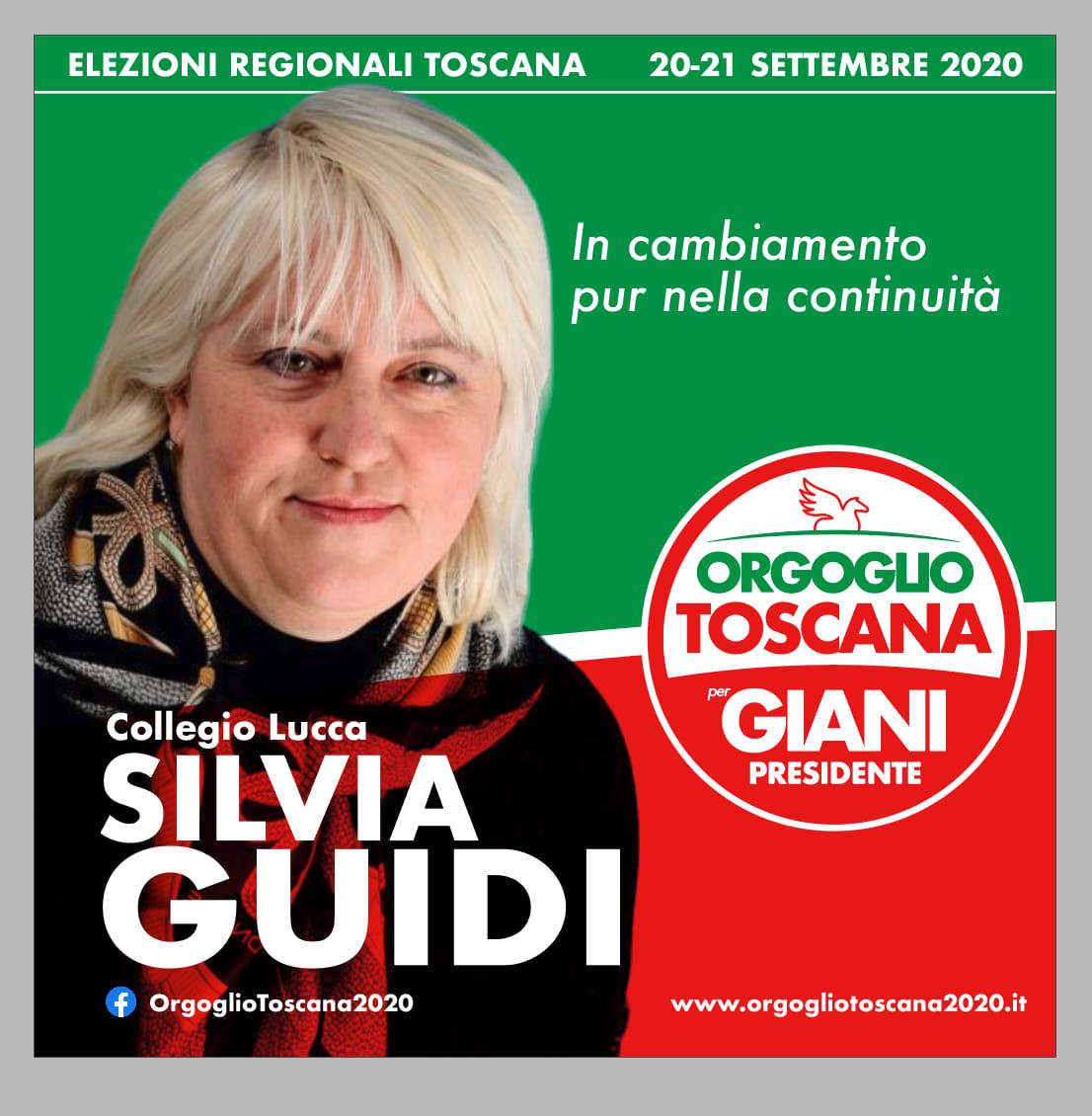 Sono candidata nella lista Orgoglio Toscana. Collegio di Lucca